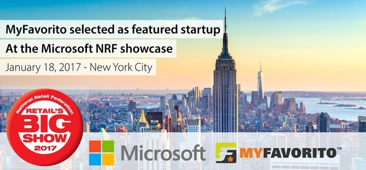 MyFavorito selected from hundreds as featured startup at the Microsoft NRF Showcase